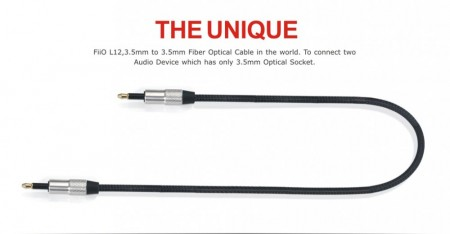 Fiio L12 Optisk kabel 3.5mm til 3.5mm