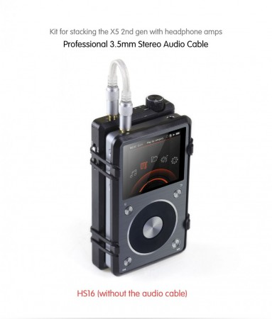 Fiio HS16 stacking kit for X5v2 sammen med forsterker.